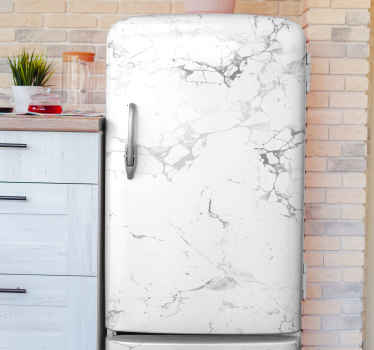 White grey marble fridge sticker to beautify your laptop in a beautiful way. Make your fridge space stand out in our marble texture design.