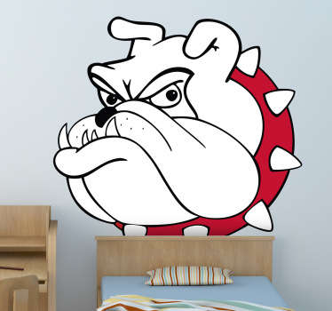 Colour Bull Dog Wall Sticker