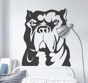 Naklejka dekoracyjna pies pitbull