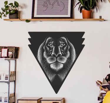 Vinilo de animales  con emblema de león perfecto como decoración para tu dormitorio. Fácil de aplicar y de calidad ¡Compra online ahora!
