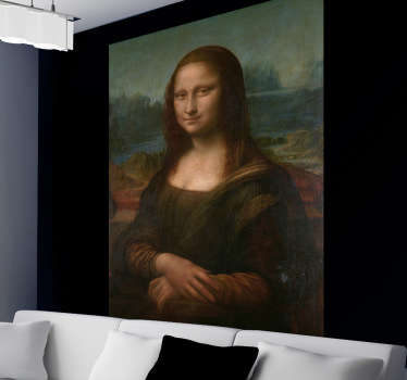 Celebrate the most iconic painting of all time with this beautiful Mona Lisa Wall Mural. Choose your size. Personalised stickers.