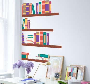 Bücherregal Aufkleber