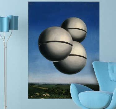 Magritte Kunstwerk Aufkleber
