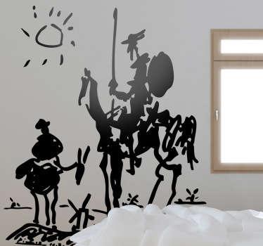 돈키호테 피카소 벽 스티커