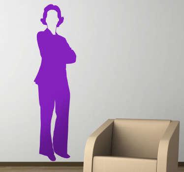 Vinilo decorativo mujer negocios