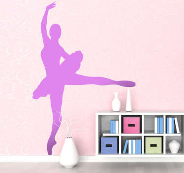 Ballerina Silhouette Decal - For lovers of the art of Ballet. The Ballerina wall sticker comes in up to 50 different colours.