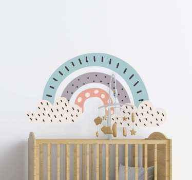 čudovita zbirka nordijskih mavričnih nalepk, ki bodo na izviren in lep način okrasile vašo otroško sobo. Visokokakovosten izdelek!