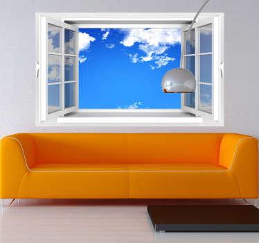 öppet fönster väggmålning klistermärke