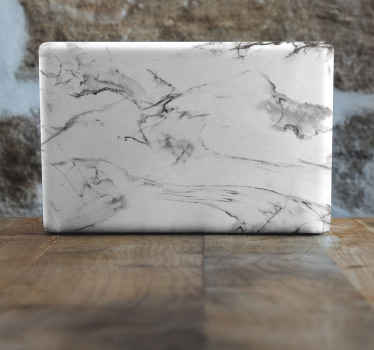 White and gray marble sticker for laptop. The quality is top notch because it would last you for a long time without peeling, fading off, no wrinkle.