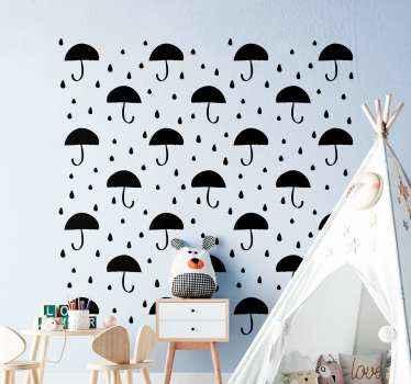 Vinilo para niños de confeti de gota de lluvia para que decores el cuarto de tu hijo de forma original. Elige color y medidas ¡Envío exprés!