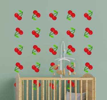 Decorative cherry confetti food sticker to decorate any space of your choice.  It is easy to apply, durable and available in any size you want.