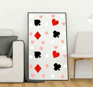 Playing cards confetti game sticker. You can decorate any part of your home with our original and lovely game confetti decal.