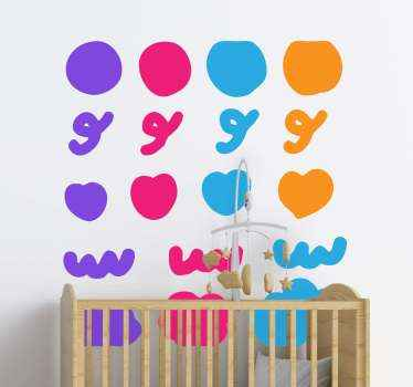 Confetti colorful doodles wall sticker. Stick this featured design on your wall especially on the room of a kid and see how lovely it  appears.