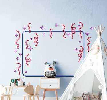 adhesif de confettis géométriques colorés avec des caractéristiques ornementales. ces stickers murauxpeut être décorée sur la chambre des enfants et sur d'autres zones d'une maison.