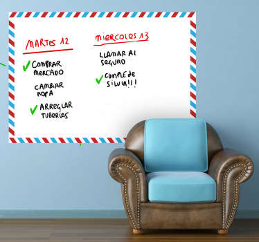 Whiteboard;AirMail themed design;ideal for decorating any room, also practical for drawing and writing notes. Perfect for any room