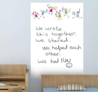 Naklejka dla dzieci biała tablica