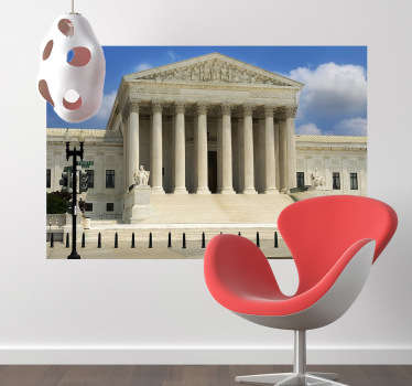 Photo Murals - A shot of the monumental Supreme Court of the United States. Great for decorating your home or office.