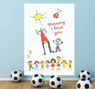 Line of Kids Whiteboard Sticker
