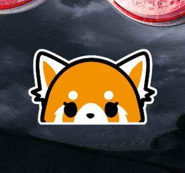Plak deze mooie schattige glurende anime vos autosticker op de bumper ruimte van uw voertuig of raam of deur. Gemakkelijk aan te brengen en echt hechtend.