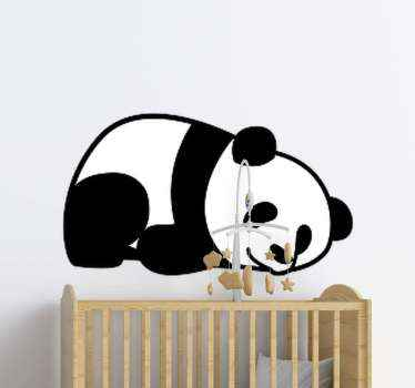 Which kid doesn't love panda?.  A lovely cute anima illustrative sticker of a sleeping panda to decorate the room of your young one.
