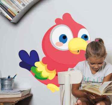 ¿A tu hijo le gustan las aves? Si aún así, este es el momento de sorprenderlo con este vinilo para niños con loro colorido ¡Envío exprés!