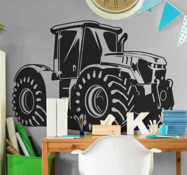 Vinilo para niños de juguete de tractor retro decorativa para decorar la habitación de los niños. Elige medidas ¡Compra online!