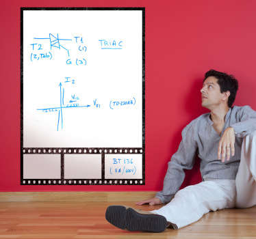 Muursticker whiteboard film frame