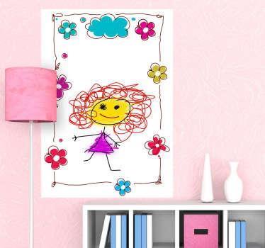 Sticker whiteboard bloemen