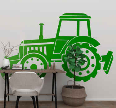 This realistic tractor silhouette industry sticker is the best way to decorate if you like tractors and industrial machinery. Choose your size.