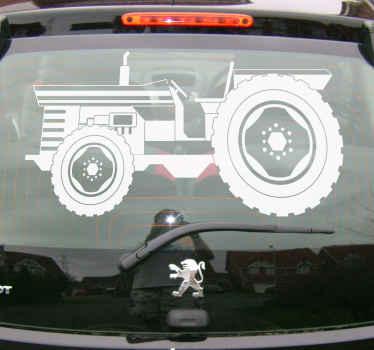 Tato vinylová samolepka na auto s obrázkem vintage traktoru s velkými pneumatikami je perfektní volbou pro osobní přizpůsobení vašeho vozu. Vyberte svou velikost.