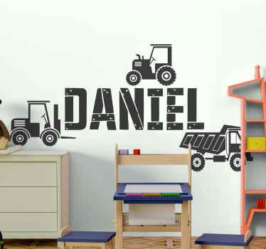 Personnalisez ce joli stickers de camion jouet décoratif pour votre enfant. Convient pour décorer la chambre et peut être appliqué sur n'importe quelle surface plane.