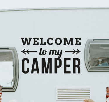Welcome to my camper car sticker to decorate your vehicle in a fun and adventure vibes. The colour is customizable and available in any size needed.