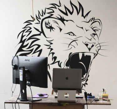 Naklejka na ścianę lew