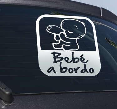 Adesivo para carro bebé a bordo biberão