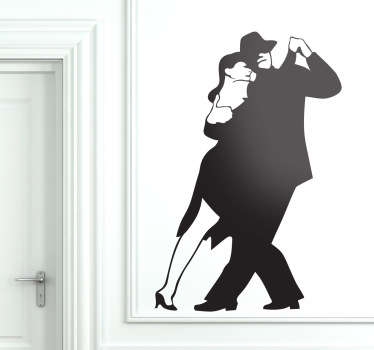 Tango Couple Dancing Wall Sticker