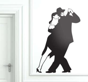 Tango Couple Dancing Wall Sticker