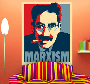 Sticker decorativo scherzo marxismo