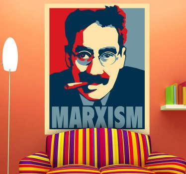 Muursticker poster Marx