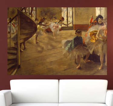 Decorate your home with a piece of classic art. A painting of a ballroom by renowned French artist Degas.
