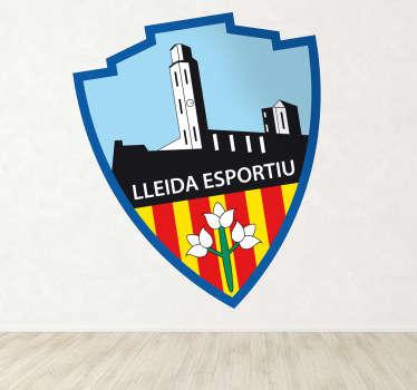 Pegatina con el emblema de uno de los más importantes equipos de fútbol catalanes.