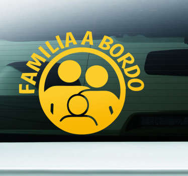 Sticker decorativo familia a bordo