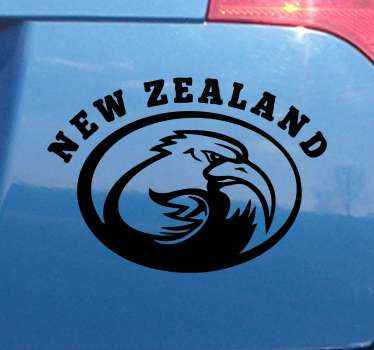 Car decal with the logo of the new zealand rugby team to personalize your car with a sticker of resistance and durability. Choose your size.