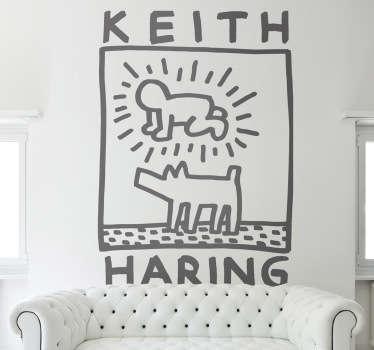 Keith Haring Art Sticker