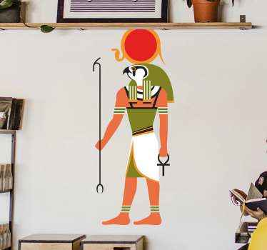 tian god Ra politics stickers for home decoration. You can decorate the Egyptian religious decal on any desired space in your house.