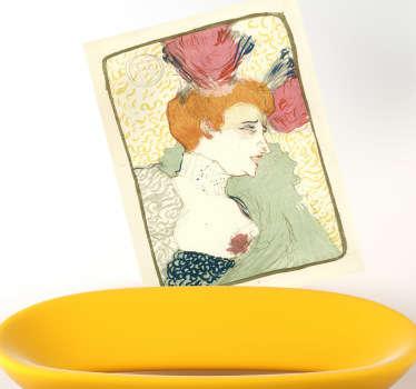 Sticker litographie Lautrec