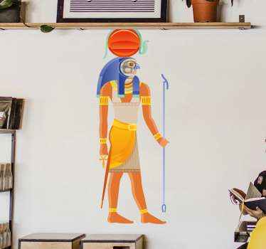 An illustration sticker of Egyptian god Ra. A design for religious minds especially for deity believers. It is durable and easy to apply.