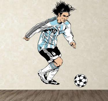 Sticker foot Messi Argentine