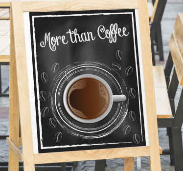 Share your passion for coffee with this fabulous drink wall sticker and impress your familly and friend with this sticker! Home delivery!