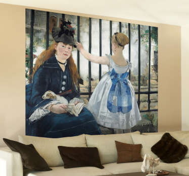 'The Railway' Manet Painting Sticker