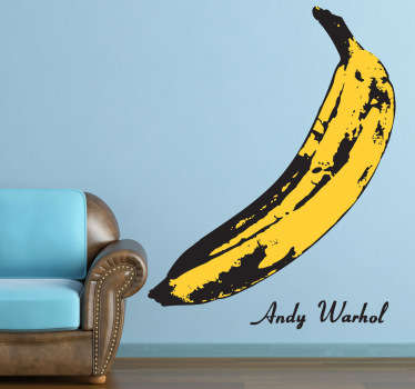 Banan Andy Warhol wallsticker